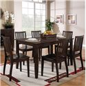 Steve Silver Candice 7 Pc. Rectangular Table and Chair Dining Set - Item Number: CD450TE+6x450SE