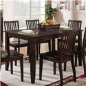 Steve Silver Candice 7 Piece Rectangular Table and Slat Back Chair Dining Set - Set Includes Rectangular Table