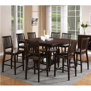 Morris Home Furnishings Candice 9 Pc. Counter Storage Table with Chairs