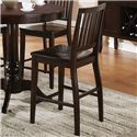 Steve Silver Candice 9 Piece Counter Height Storage Table with Counter Chairs - Set Includes Eight Counter Height Chairs