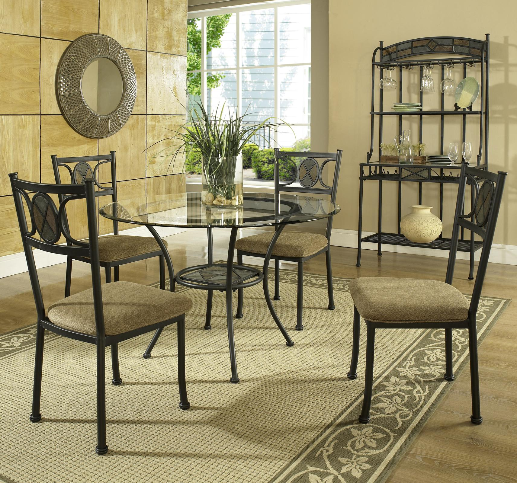 Steve Silver Carolyn 5-Piece Dining Set - Item Number: CR450B+CR450T+4xCR450S