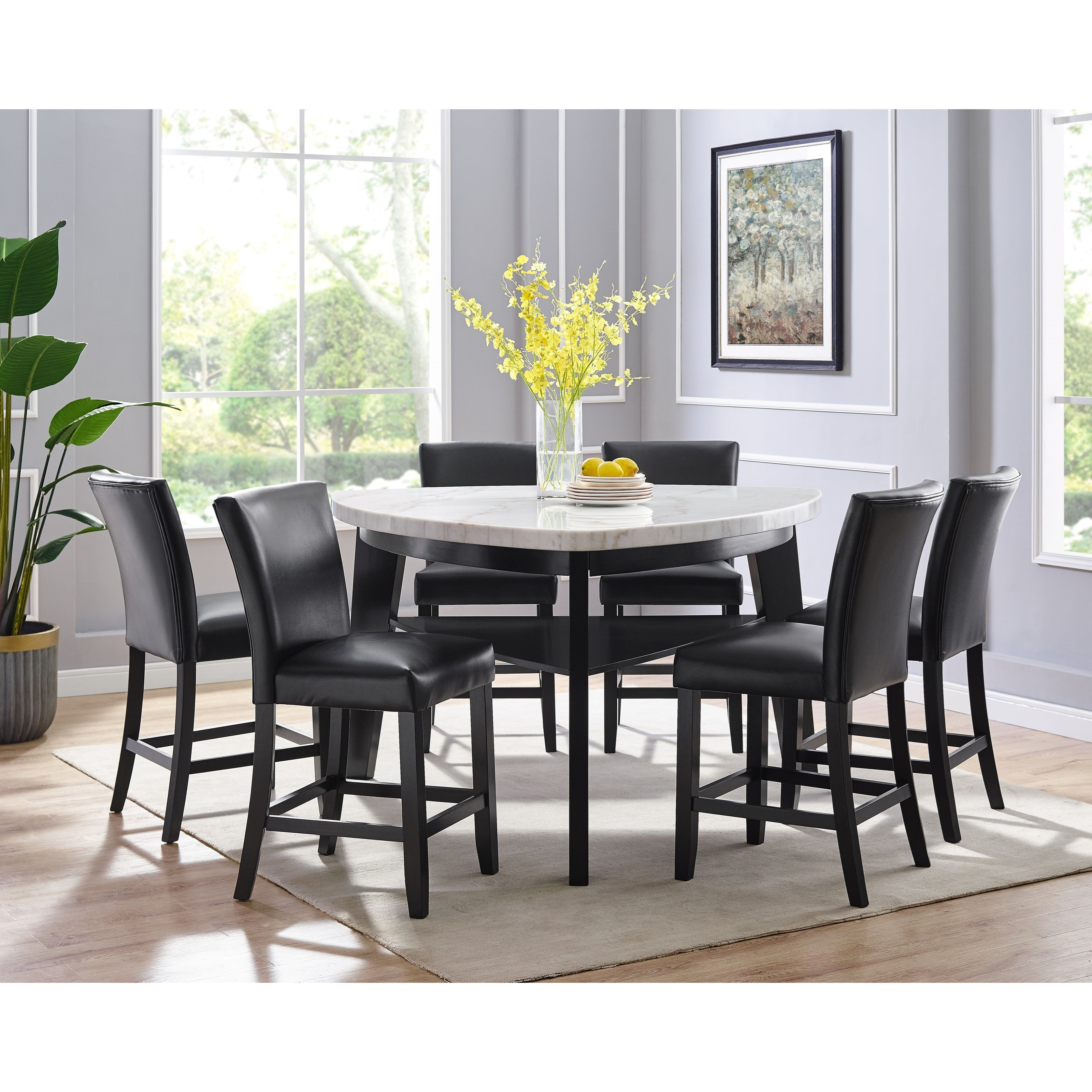 Carrara 7-Piece Dining Set by Steve Silver at Standard Furniture