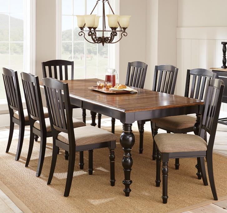 Steve Silver Carrolton 9 Piece Dining Set - Item Number: CR700T+8xS