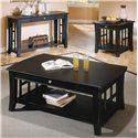 Morris Home Furnishings Cassidy  Cocktail Table with 1 Drawer - Shown with End Table & Sofa Table