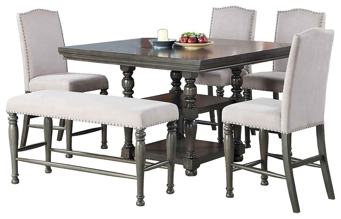 Caswell 5 Piece Counter Height Dining Set by Steve Silver at Darvin Furniture