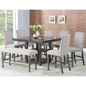 Steve Silver Caswell 8 Pc Counter Dining Set w/ Bench - Item Number: CW700PT+6XCC+BN