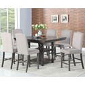 Steve Silver Caswell 7 Pc Counter Dining Set - Item Number: CW700PT+6XCC