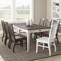 Steve Silver Cayla 9 Piece Table and Chair Set - Item Number: CY400TKW+2x400SW+6x400SK