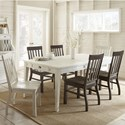 Steve Silver Cayla 7 Piece Dining Set - Item Number: CY400TW+2xSW+4xSK