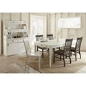 Steve Silver Cayla 7 Piece Two Tone Farmhouse Dining Set with Table Storage