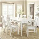 Steve Silver Cayla 5 Piece Dining Set - Item Number: CY400TW+4xSW