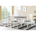 Steve Silver Caylie 5-Piece Dining Set - Item Number: CL550T+4xCL550S