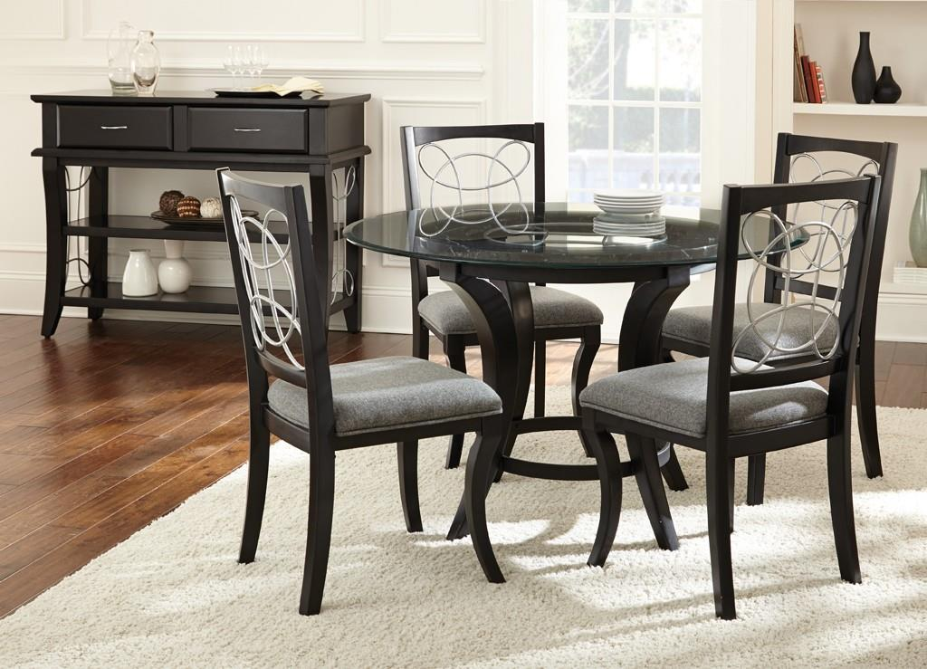 Wayside Dining Room Furniture: Steve Silver Cayman 5 Piece Glass Top Dining Set