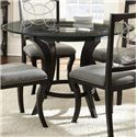 Morris Home Furnishings Cayman Round Glass Top Dining Table - Item Number: CY480T+B