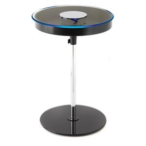 LED End Table with Storage