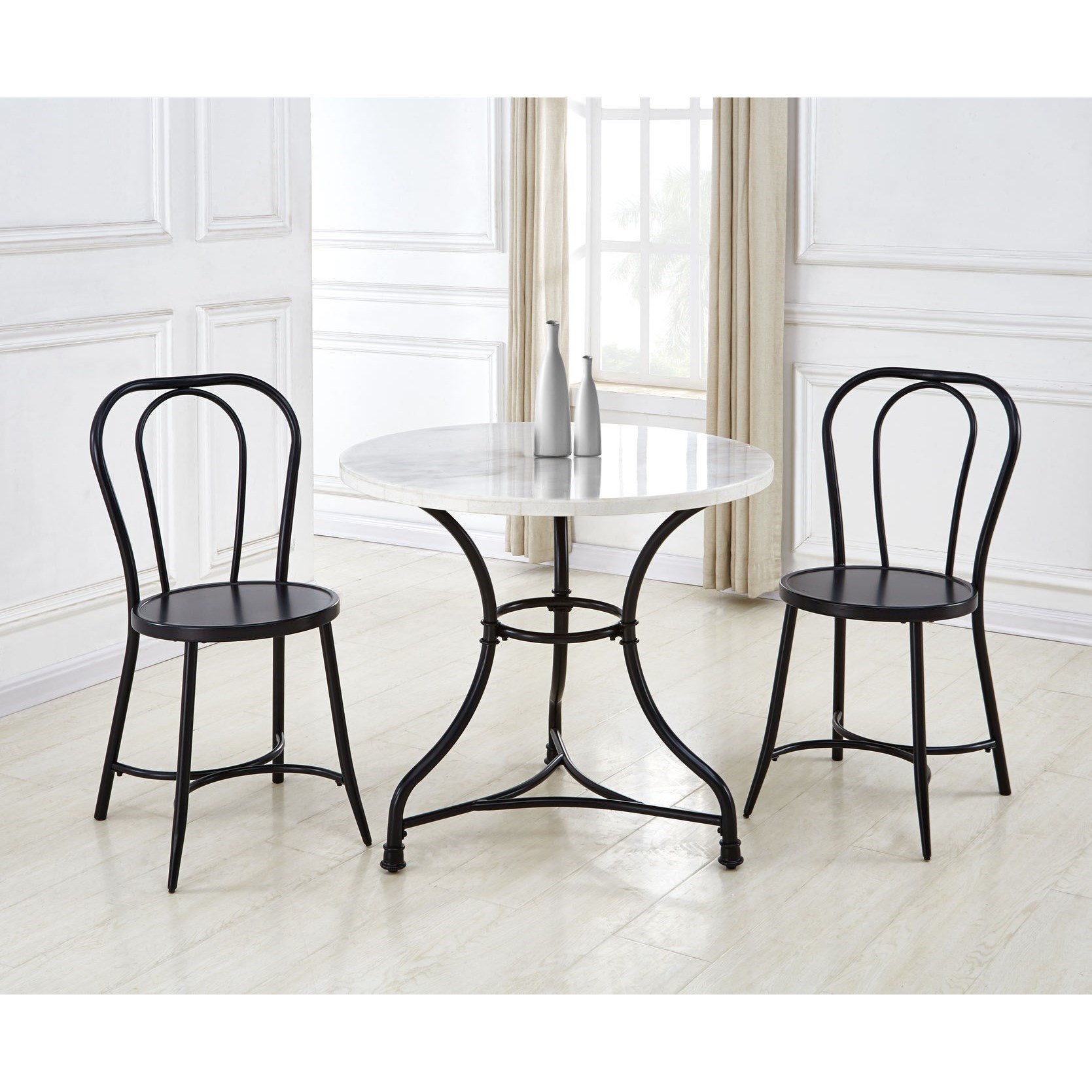 Claire 3-Piece Table and Chair Set by Steve Silver at Walker's Furniture