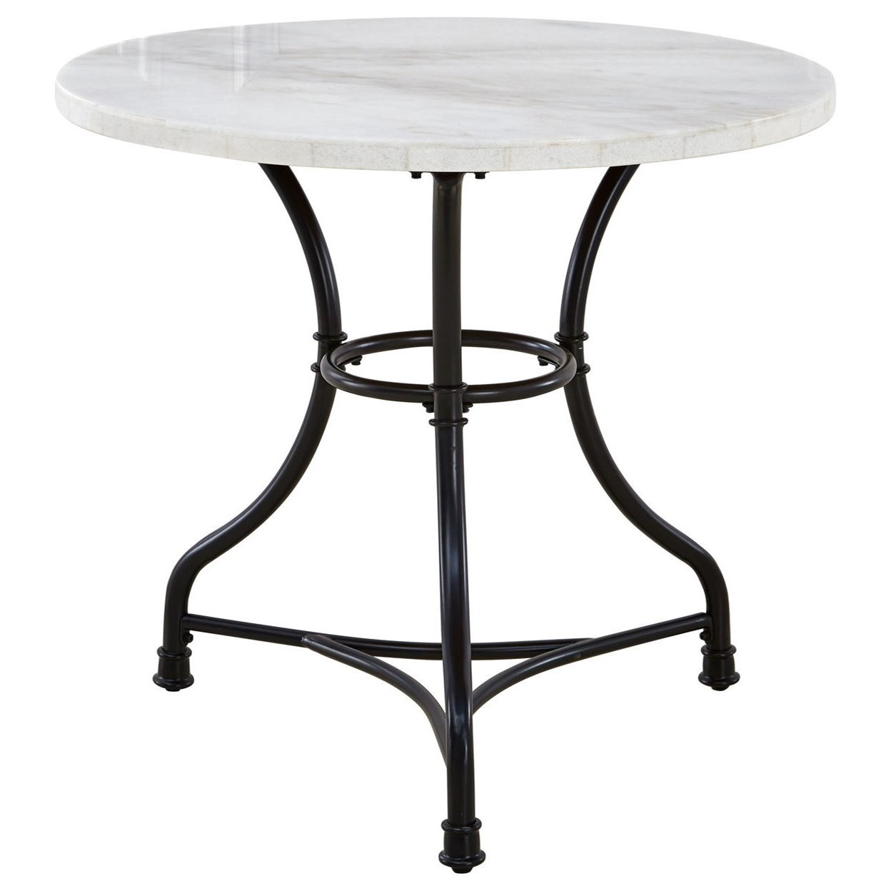 Steve Silver Claire Cr340t Contemporary Round Bistro Table With White Marble Top O Dunk O Bright Furniture Dining Tables