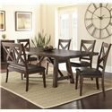 Vendor 3985 Clapton 6 Piece Dining Set with Bench - Item Number: CT500T+4xS+BN