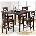 Steve Silver Cobalt  5 Piece Pub Table & Chair Set - Item Number: CB200E