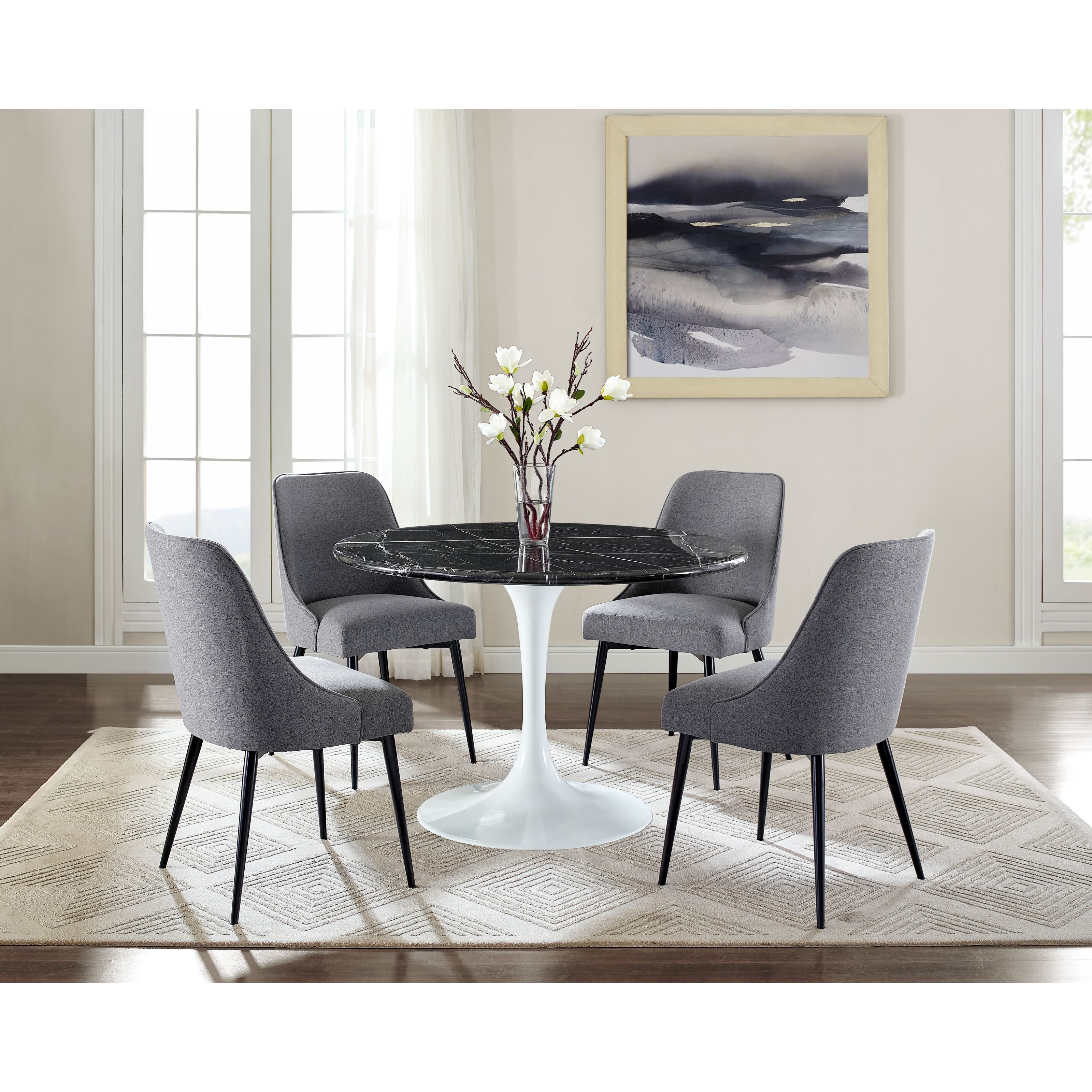 Dining Room Furniture Essentials: Belfort Essentials Colfax Mid Century Modern Upholstered