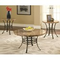 Steve Silver Collison 3 Piece Table Group - Item Number: CL3000B+T