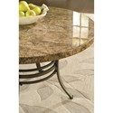 Steve Silver Collison 3 Piece Living Room Table Group with Faux Marble Tops