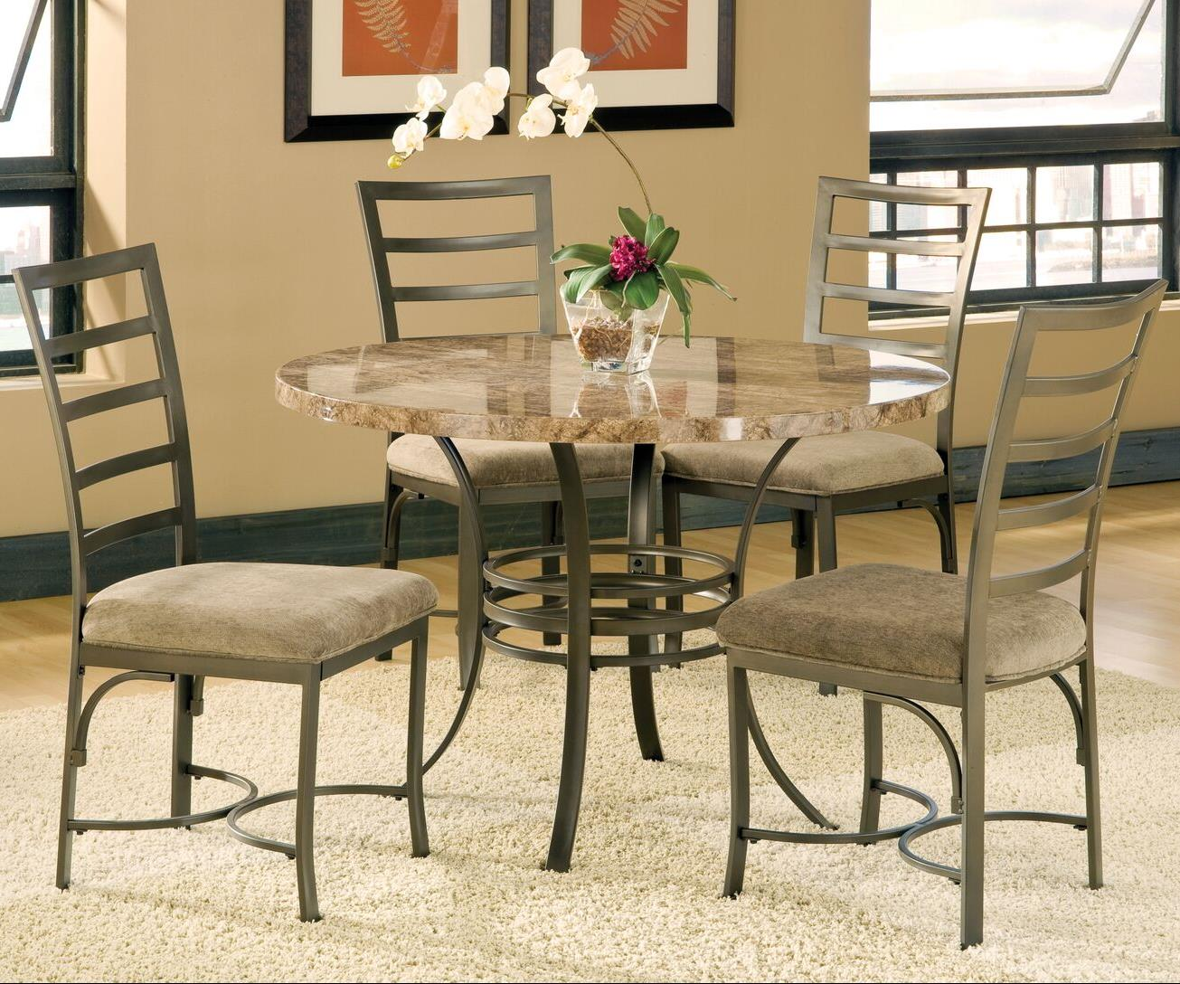 Steve Silver Collison 5 Piece Round Table Set - Item Number: CL450BS+MT