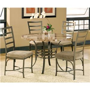 Vendor 3985 Collison 5 Piece Round Table Set