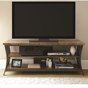 Prime Collison Faux Marble Top TV Stand