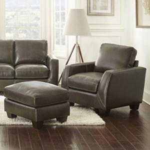 Tremendous Steve Silver Coltrane Contemporary Leather Match Chair Short Links Chair Design For Home Short Linksinfo