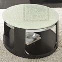 Morris Home Croften Crackled Glass Cocktail Table with Casters - Item Number: CF350CAS