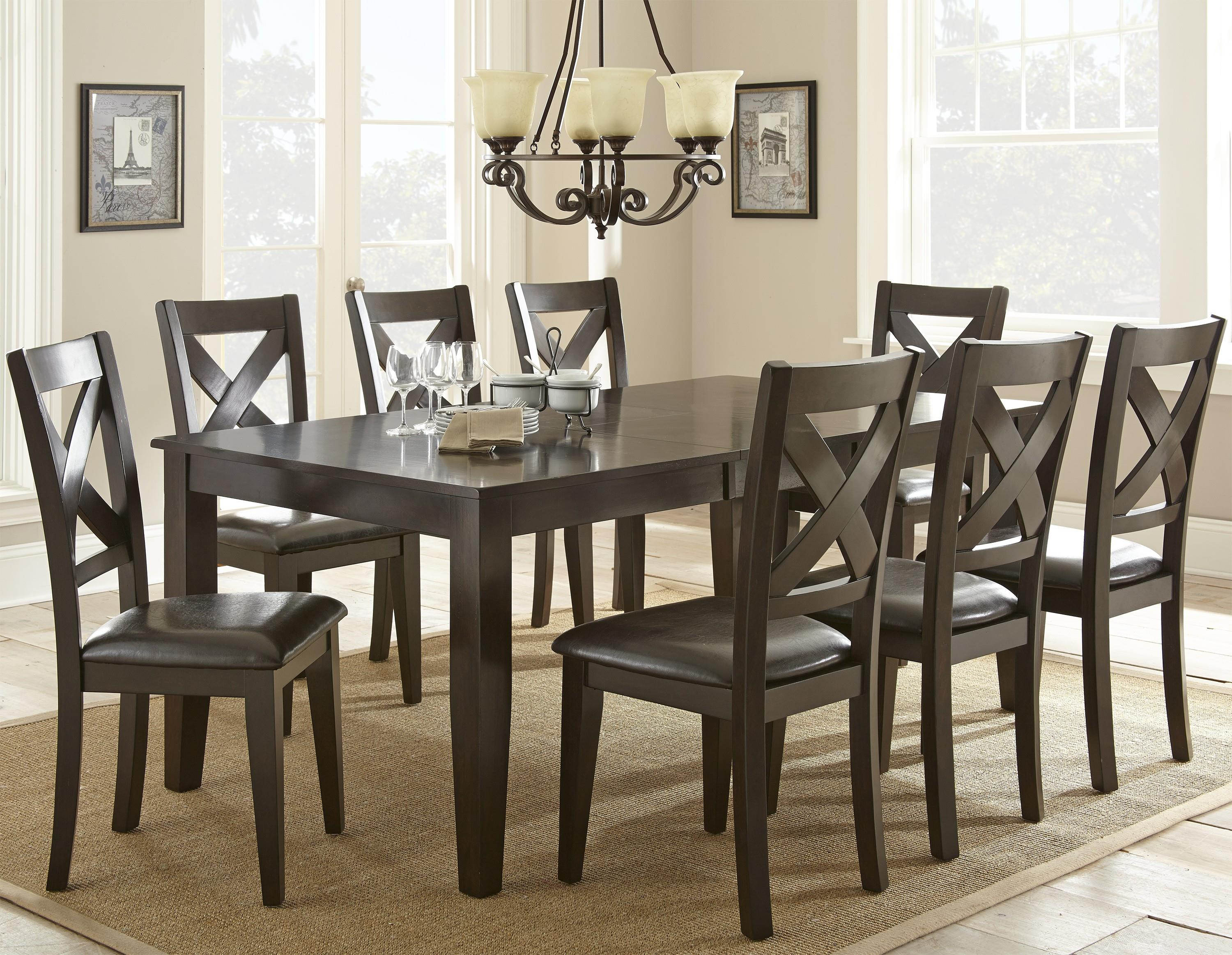 Steve Silver Crosspointe 9 Piece Dining Set - Item Number: CP600T+8xS
