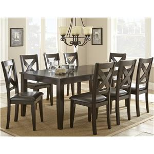Steve Silver Crosspointe 9 Piece Dining Set