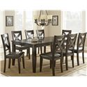 Morris Home Furnishings Crosspointe Dining Table with 18