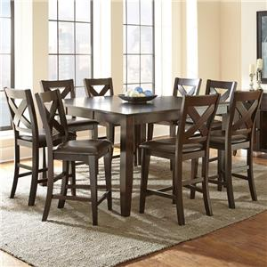 Steve Silver Crosspointe 9 Piece Counter Height Dining Set