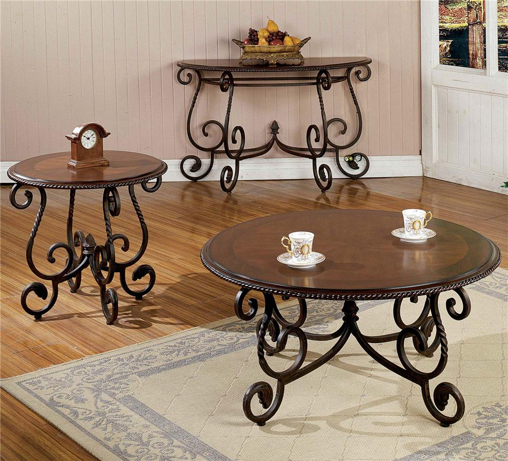 Steve Silver Crowley Cr150c Traditional Round Scrolled Cocktail Table Great American Home