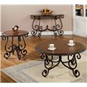 Morris Home Furnishings Crowley Traditional Oval Scrolled End Table