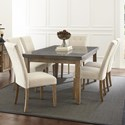 Steve Silver Debby 7 Piece Table and Chair Set - Item Number: DB500MT+TL+6xS