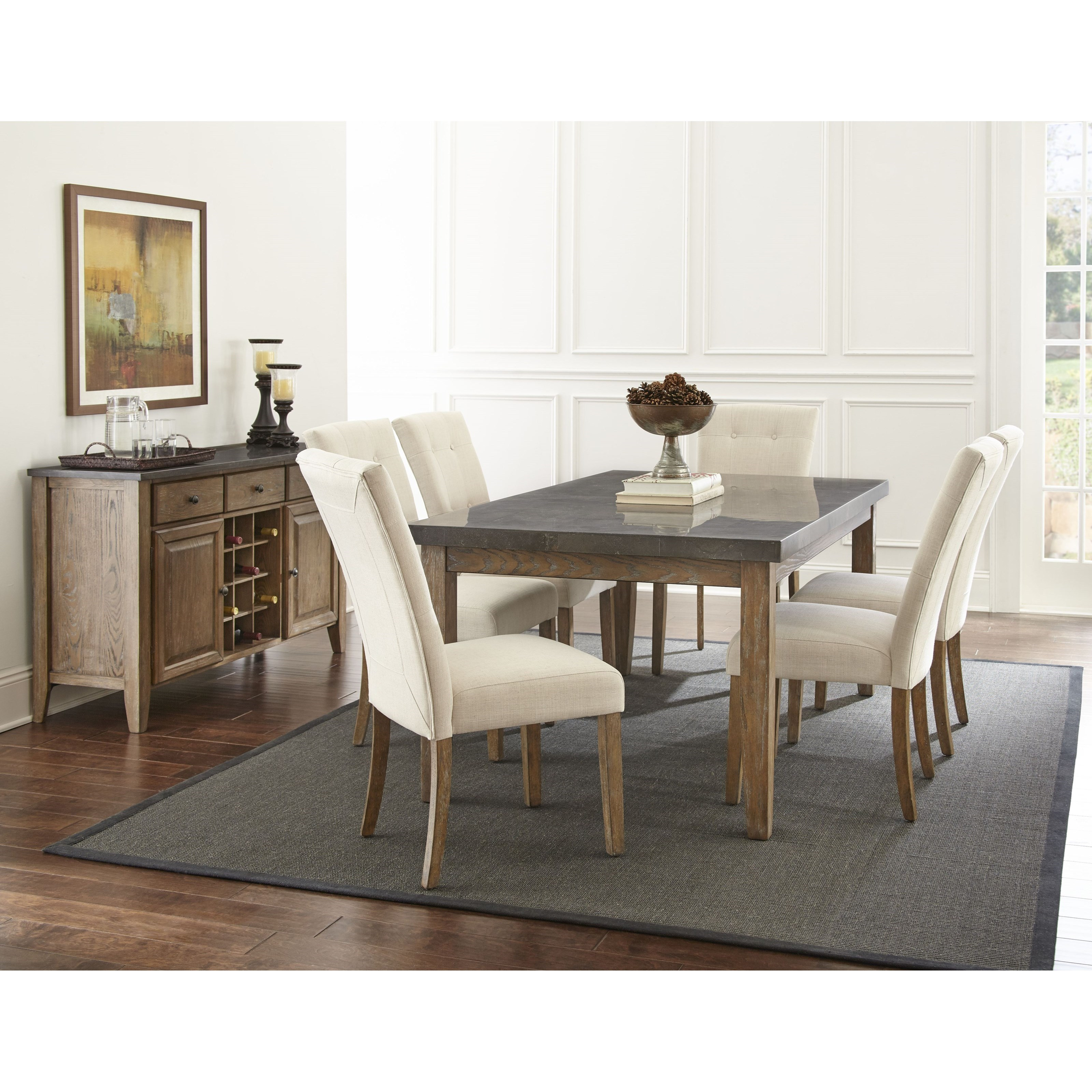 Dazzelton Dining Room Table: Star Debby Transitional Rectangular Dining Table With