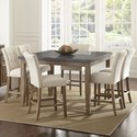 Steve Silver Debby 7 Piece Table and Chair Set - Item Number: DB5454MT+DB600TL+6xCC