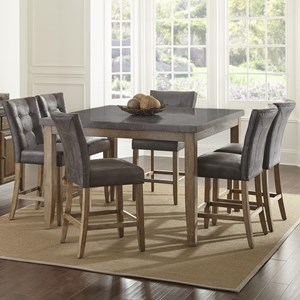 Vendor 3985 Debby 7 Piece Table and Chair Set
