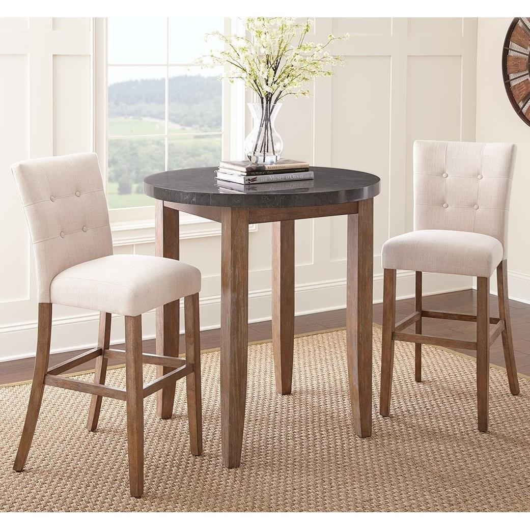Steve Silver Debby 3 Piece Bar Height Dining Set With
