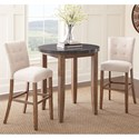 Steve Silver Debby 3 Piece Bar Height Dining Set with Bluestone Table Top