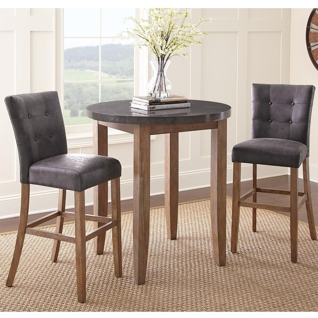 Steve Silver Debby 3 Piece Bar Height Dining Set   Item Number:  DB640TL+600MT