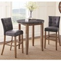Steve Silver Debby 3 Piece Bar Height Dining Set - Item Number: DB640TL+600MT+2x650BC