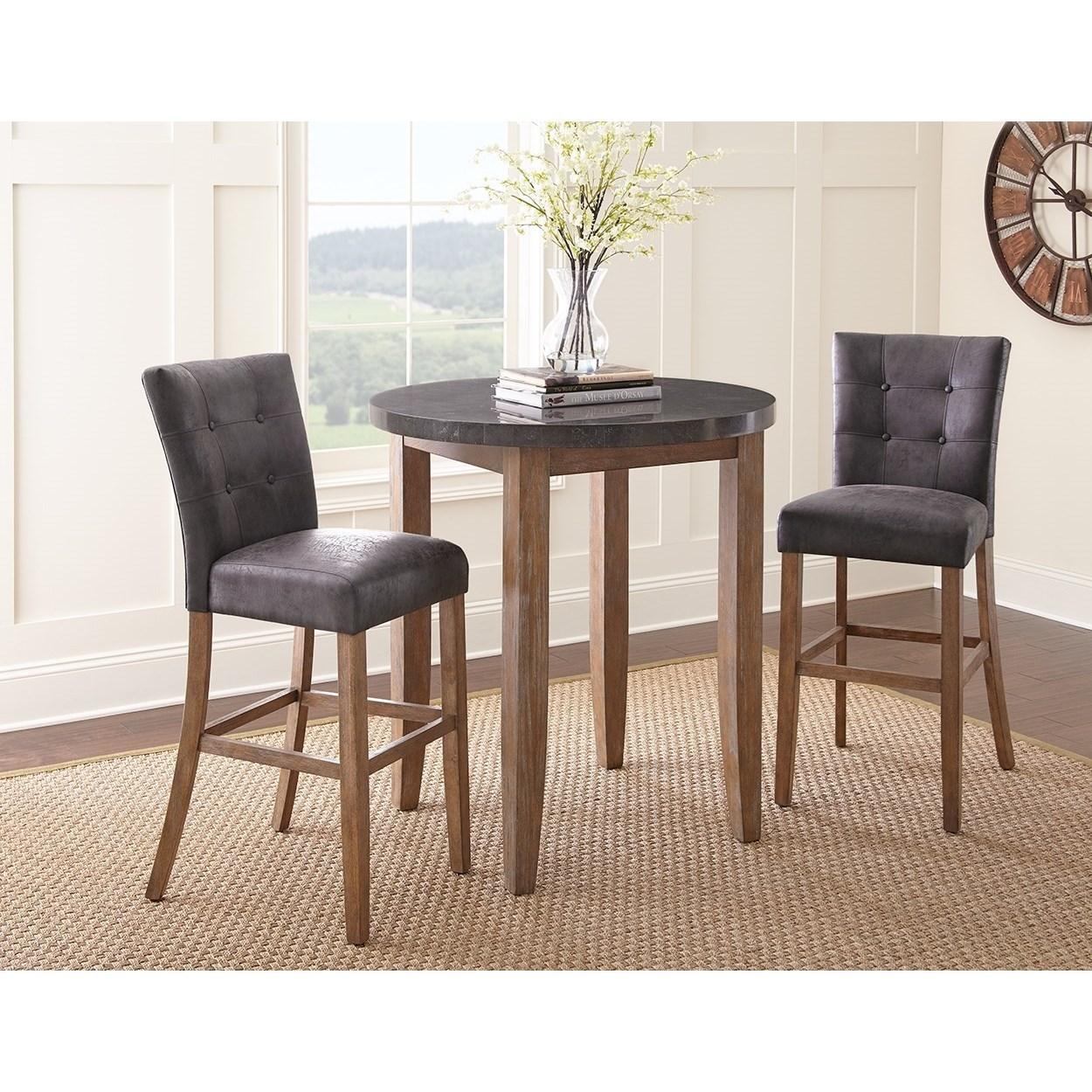 Belfort Essentials Debby Upholstered Bar Chair Belfort