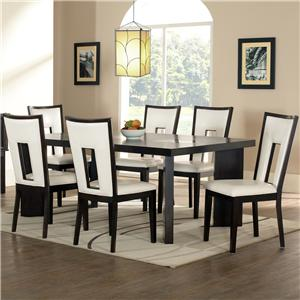Steve Silver Delano 7-Piece Dining Table and Chair Set