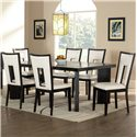 Steve Silver Delano 7-Piece Dining Table and Chair Set - Item Number: DE600T+6xDE600S