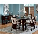 Steve Silver Delano Contemporary Counter Height Dining Side Chair - Shown in 7-Piece Dining Set with Server