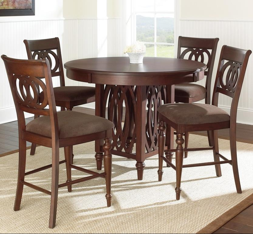 Steve Silver Dolly 5 Piece Counter Height Dining Set   Item Number:  DL550PT+4xCC
